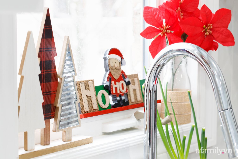 Căn bếp trắng – đỏ đẹp bình an đón Giáng sinh về của mẹ Việt ở Canada - Ảnh 7.