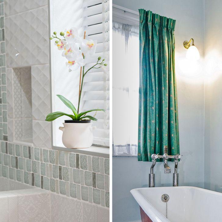 Những mẹo đơn giản dễ làm biến phòng tắm tẻ nhạt thành không gian thư giãn ở khách sạn sang chảnh - Ảnh 5.