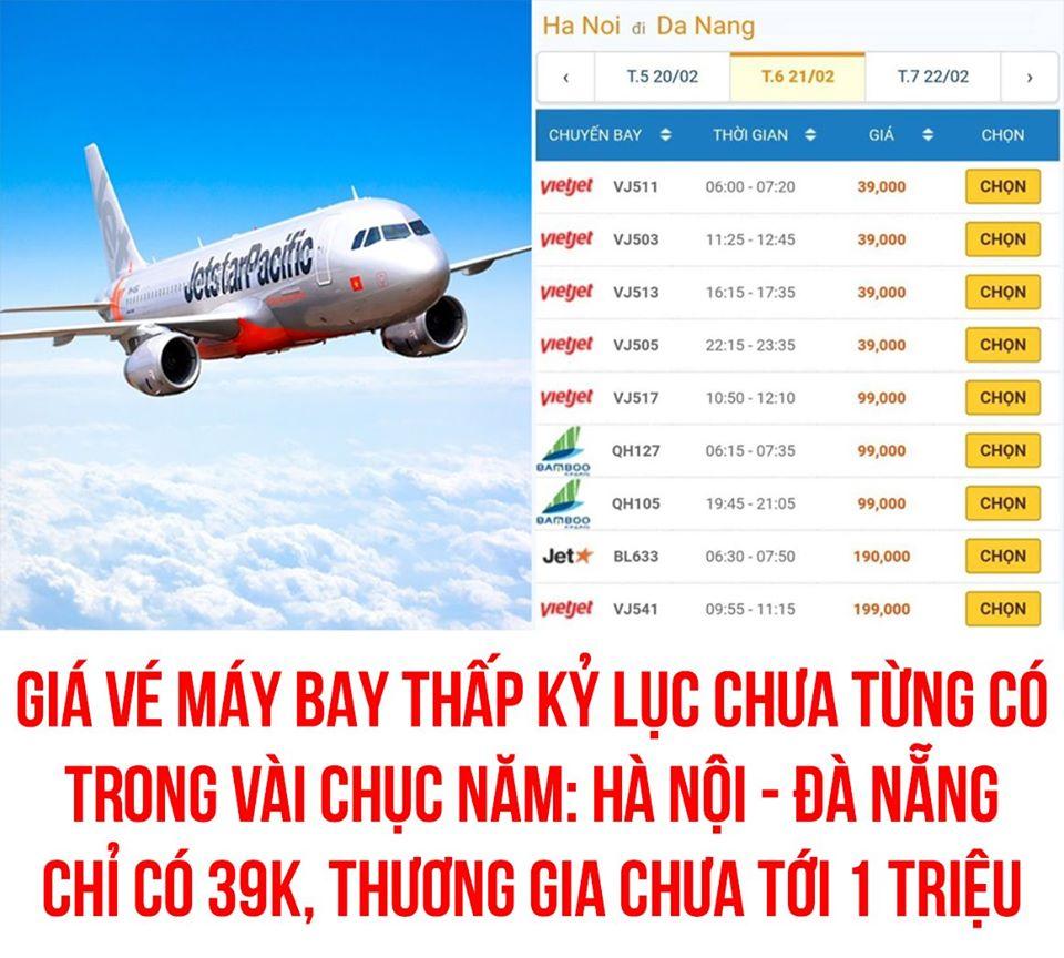 Giá vé máy bay thấp kỉ lục chưa từng có trong cả chục năm trở lại đây, Hà Nội - Đà Nẵng chỉ còn 199.000 đồng - Ảnh 4.
