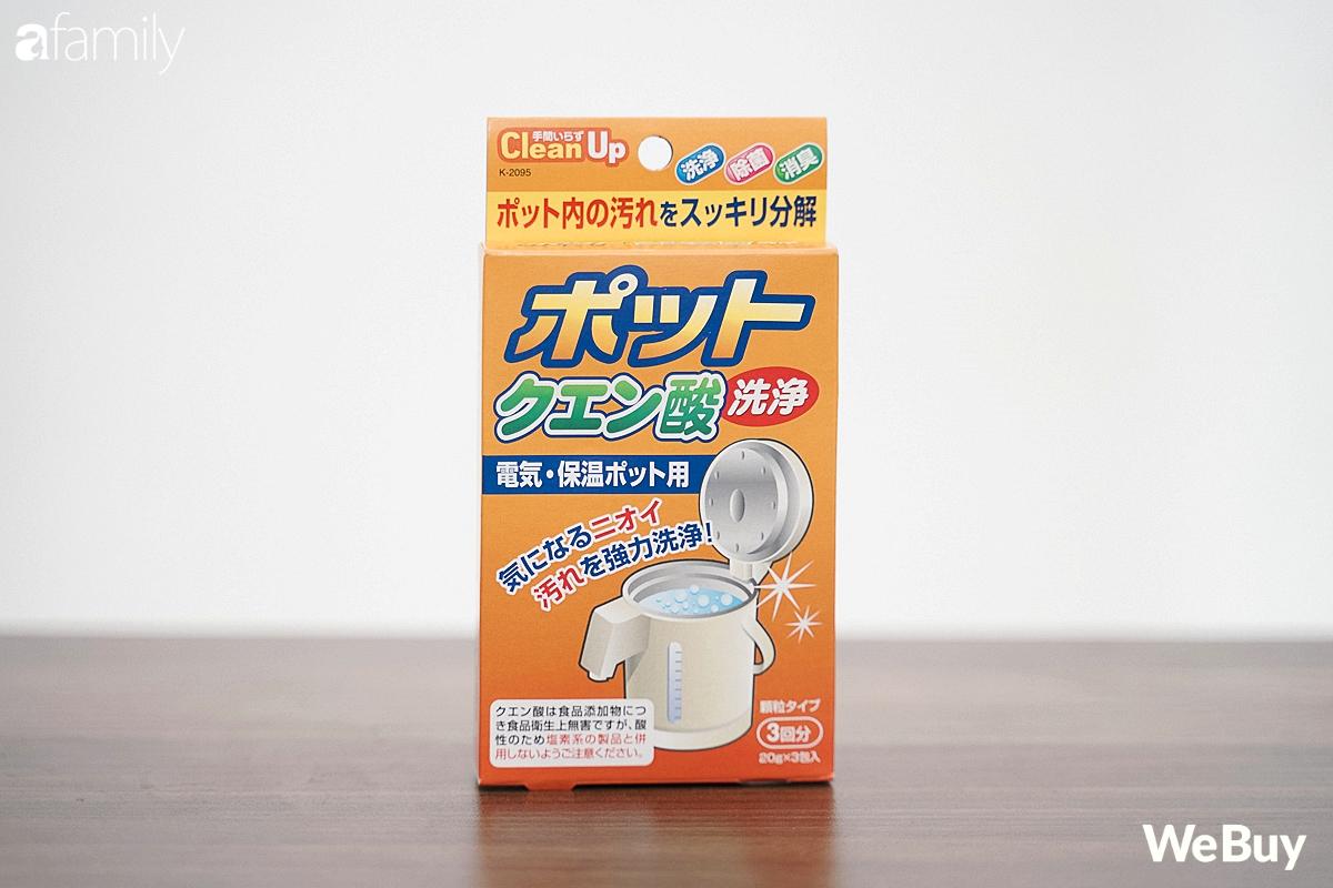 Review gói khử cặn bình nước Nhật Bản giá 10.000 đồng: Tác dụng tốt, dễ dùng, gia đình nào có phích điện nên thử - Ảnh 1.