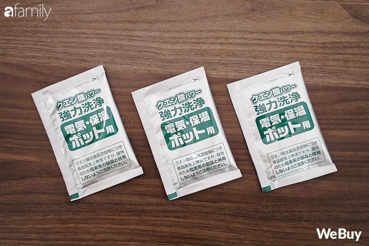 Review gói khử cặn bình nước Nhật Bản giá 10.000 đồng: Tác dụng tốt, dễ dùng, gia đình nào có phích điện nên thử - Ảnh 2.