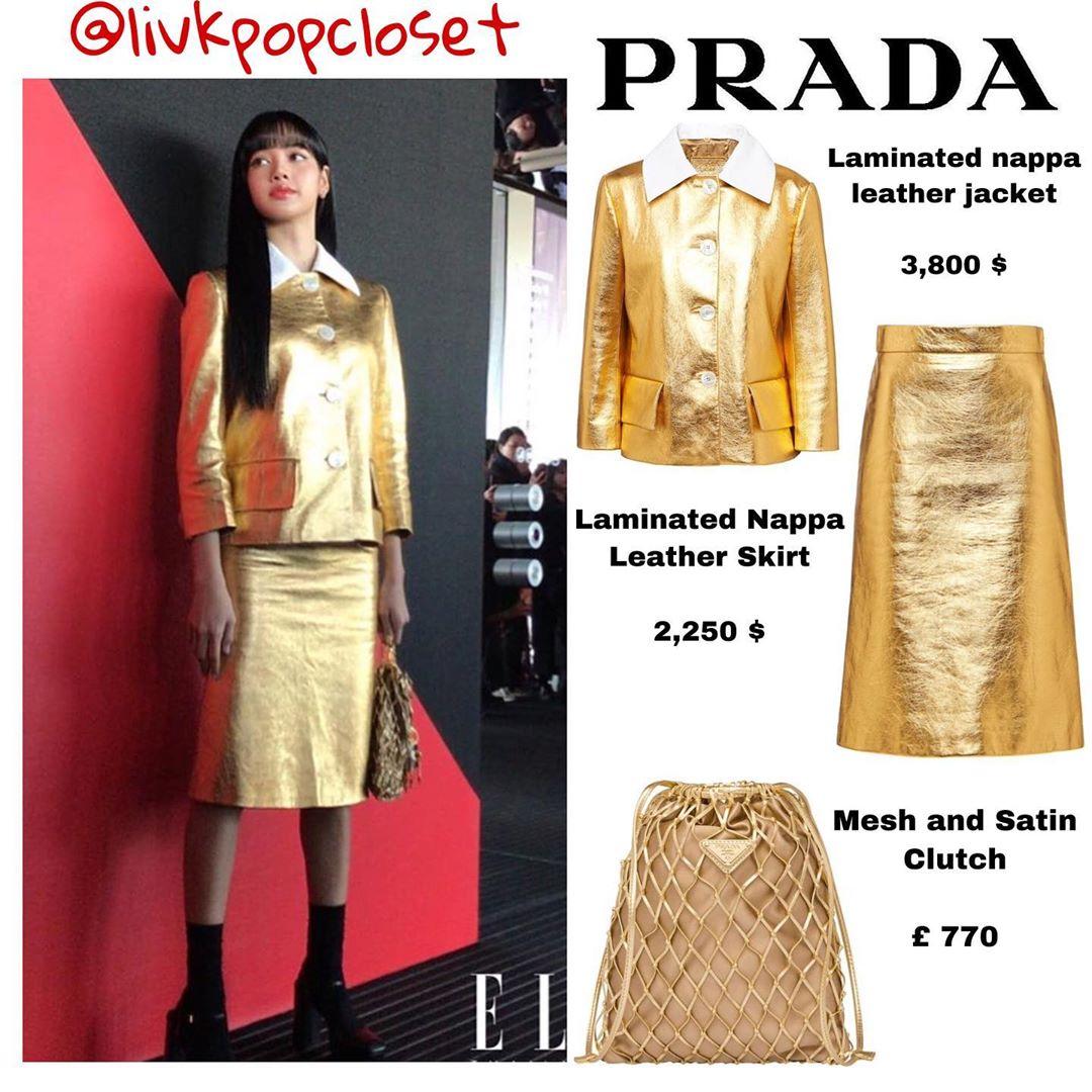 """Dự show Prada, Lisa (Black Pink) diện cả cây đồ """"hoàng quyền"""" vàng óng trị giá gần 200 triệu với ánh mắt sắc lạnh đến gai người - Ảnh 6."""
