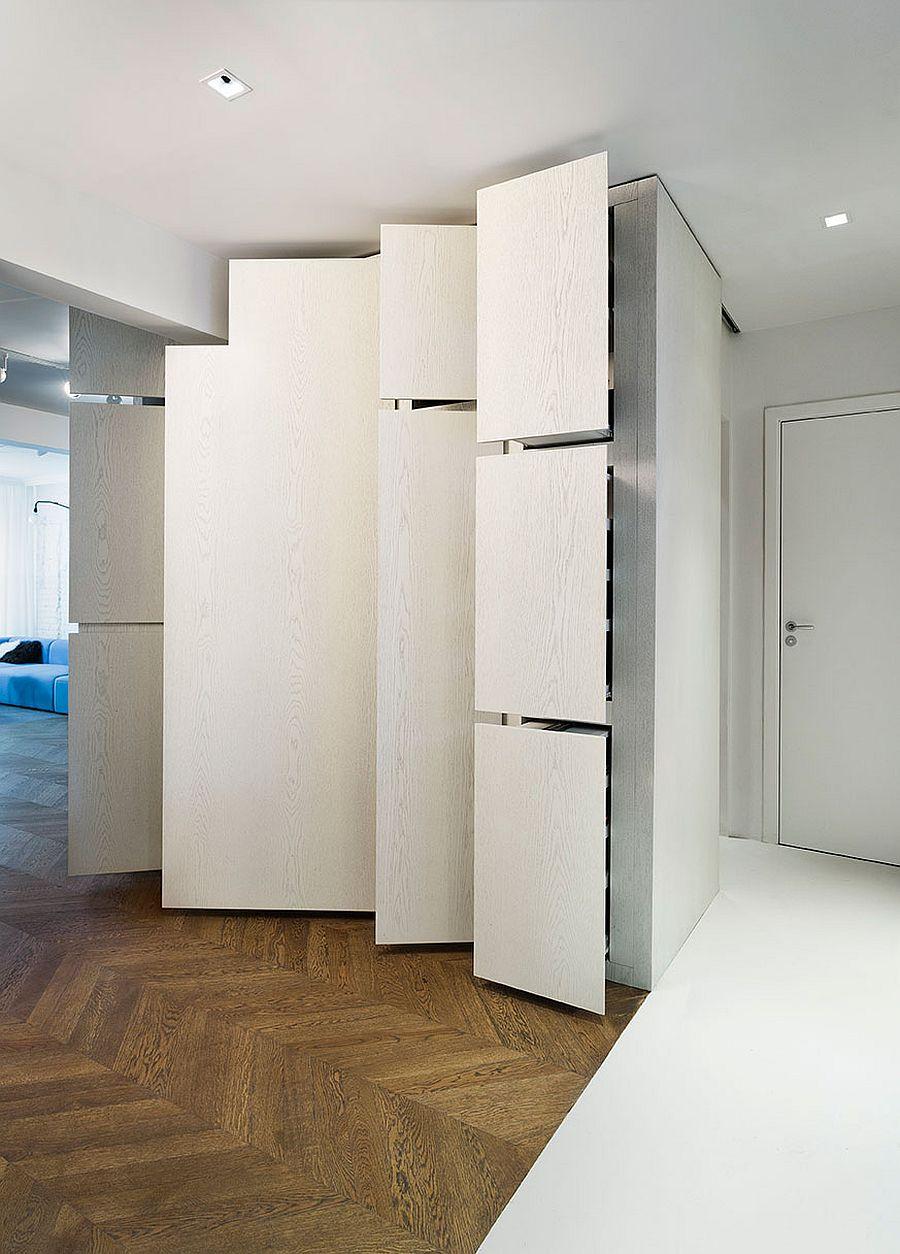 Căn hộ V01: Nhà bếp với hệ thống kệ ẩn và một loạt sự thú vị khác giúp tiết kiệm không gian - Ảnh 9.