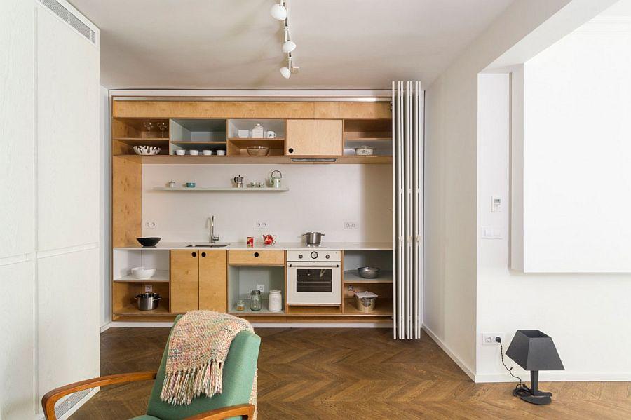 Căn hộ V01: Nhà bếp với hệ thống kệ ẩn và một loạt sự thú vị khác giúp tiết kiệm không gian - Ảnh 14.