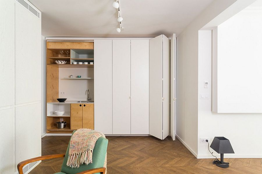 Căn hộ V01: Nhà bếp với hệ thống kệ ẩn và một loạt sự thú vị khác giúp tiết kiệm không gian - Ảnh 15.