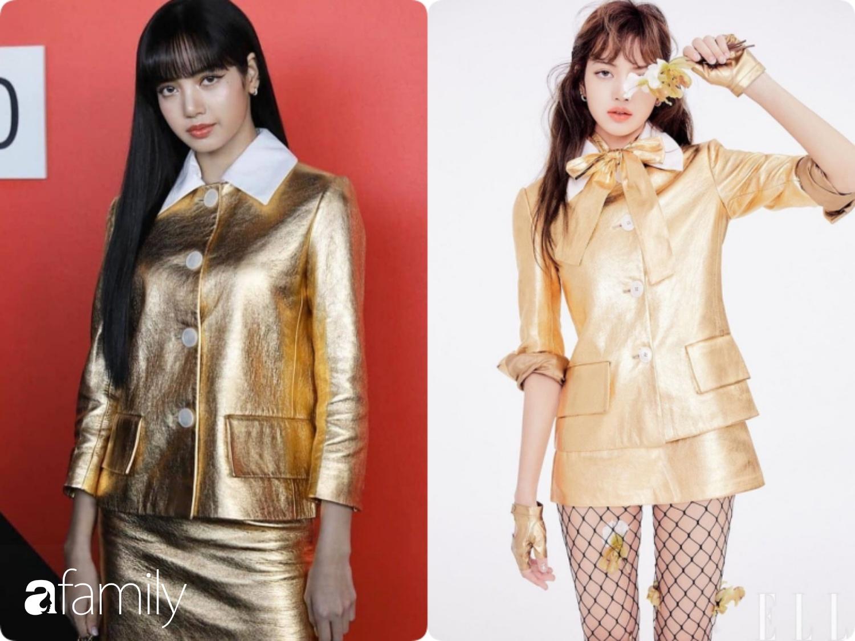 Lisa (Black Pink) diện cả cây đồ vàng chói trị giá gần 200 triệu dự show Prada nhưng hóa ra lại diện lại đồ cũ, mà độ sang chảnh lại thua sa - Ảnh 7.