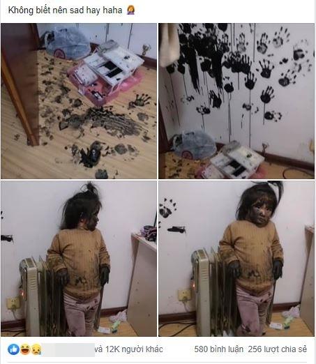 """""""Phá"""" tan tành nhà cửa và bị bố mẹ bắt gặp nhưng cô nhóc này vẫn giữ vững phong thái """"chị đại"""" đầy bất khuất - Ảnh 2."""