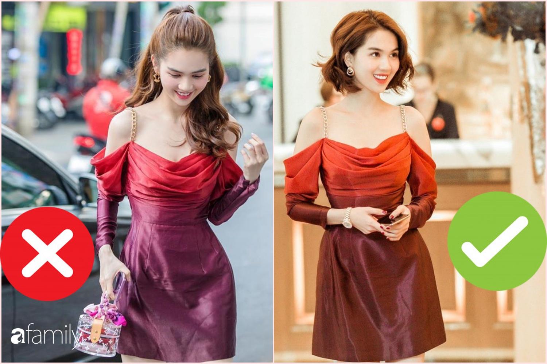 """Nhìn sự cách biệt """"váy hiệu – váy chợ"""" của Ngọc Trinh mới thấy photoshop có tác dụng thần kỳ thế nào - Ảnh 1."""