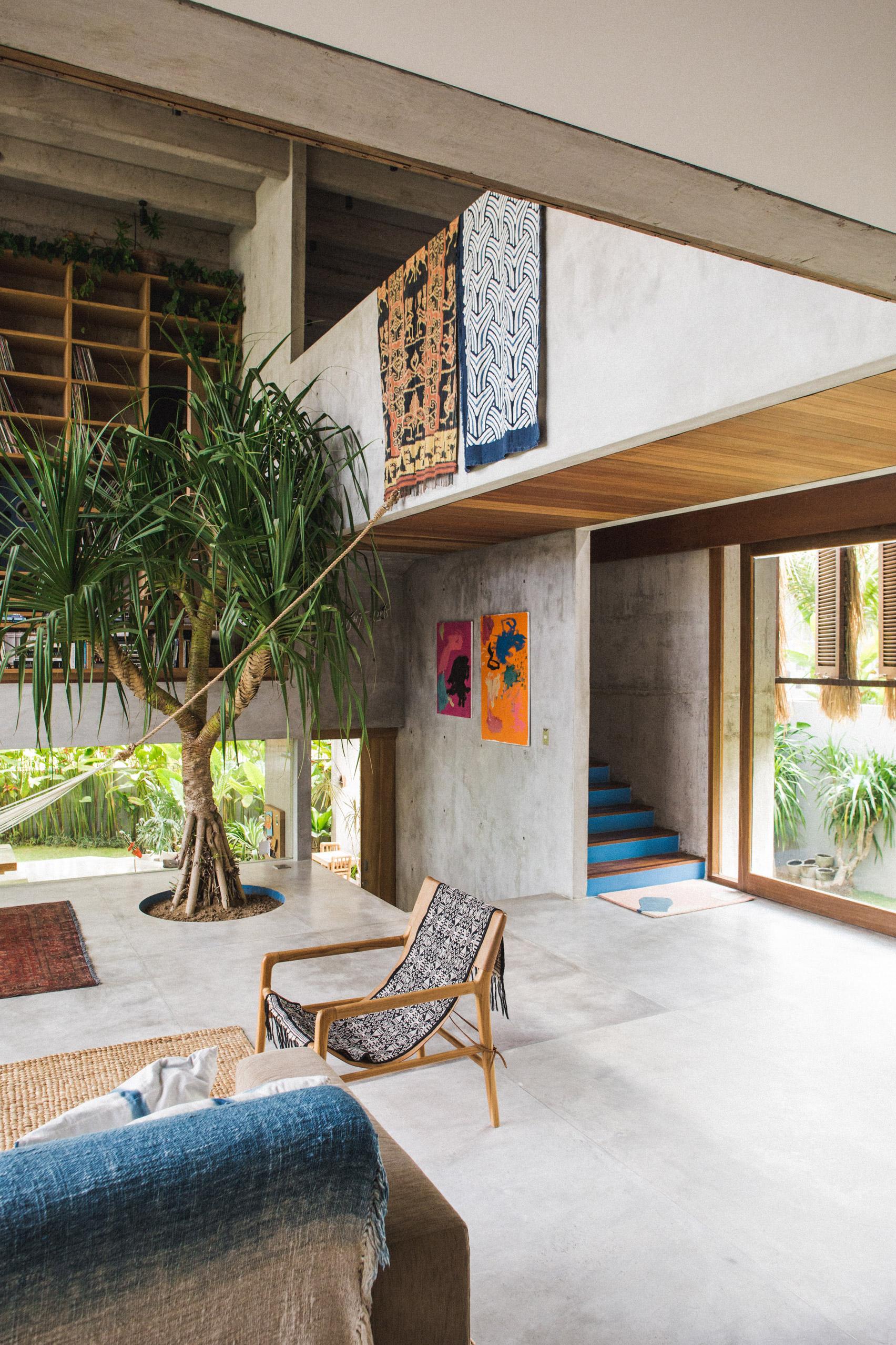 Ngôi nhà đầy sắc màu nhiệt đới với cây xanh phủ kín mọi góc nhìn - Ảnh 3.