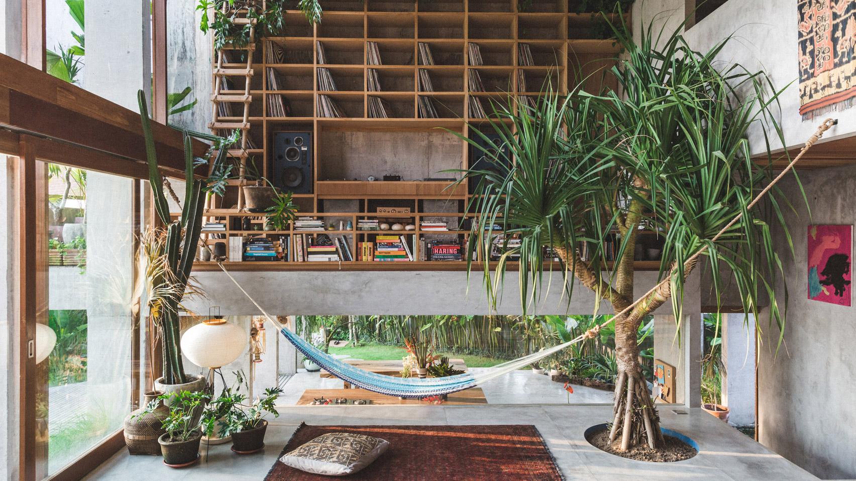 Ngôi nhà đầy sắc màu nhiệt đới với cây xanh phủ kín mọi góc nhìn - Ảnh 2.