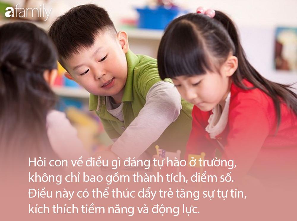 """Đừng chăm chăm hỏi """"Con được mấy điểm?"""", đây mới là những điều cha mẹ nên khuyến khích trẻ nói ra sau buổi học - Ảnh 2."""
