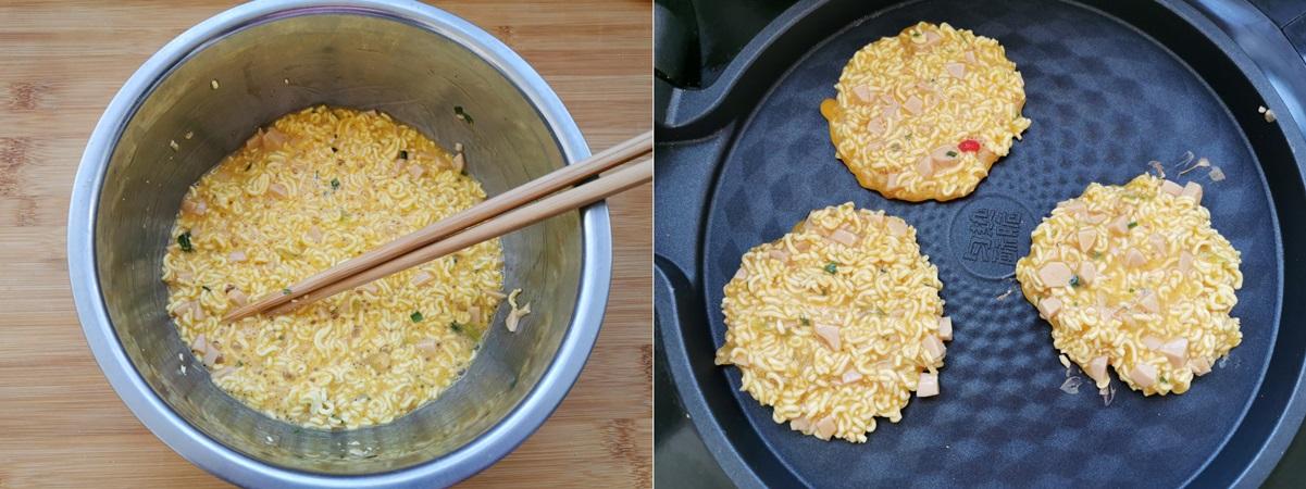 Dùng mì gói làm bánh trứng nóng hổi ngon lành cho cả nhà ăn sáng - Ảnh 3.