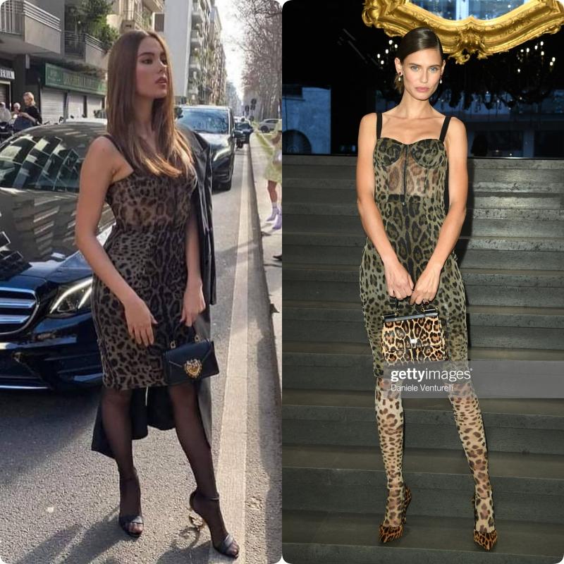 """Pha đụng hàng hiếm gặp nhất lịch sử: Dự show Dolce & Gabbana, Catriona Gray bị dí cho bộ đầm y hệt siêu mẫu Ý, sự khác biệt nằm ở cách mà """"ta"""" lên đồ - Ảnh 6."""