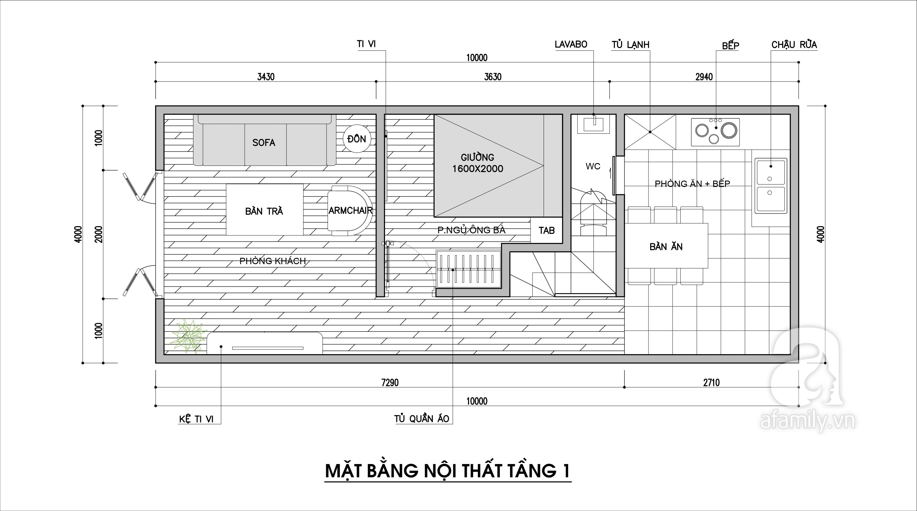 Tư vấn thiết kế cho nhà phố cấp 4 có diện tích nhỏ chỉ 4x10m với chi phí 90 triệu đồng - Ảnh 2.