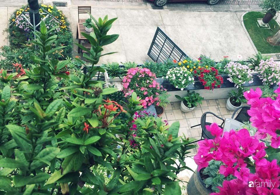 Không gian sống ngát hương bên khu vườn ngập tràn nắng ấm và rực rỡ sắc hoa ở Hà Nội - Ảnh 12.