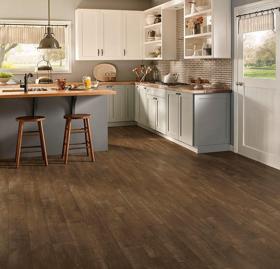 Sàn nhà bếp thịnh hành nhất năm 2020: Sàn gỗ ở khắp mọi nơi! - Ảnh 1.