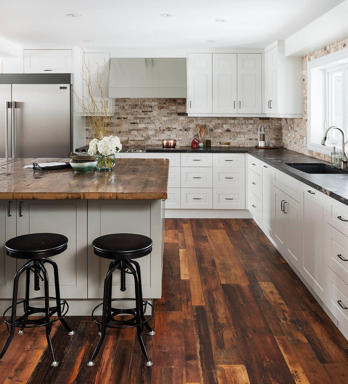 Sàn nhà bếp thịnh hành nhất năm 2020: Sàn gỗ ở khắp mọi nơi! - Ảnh 12.