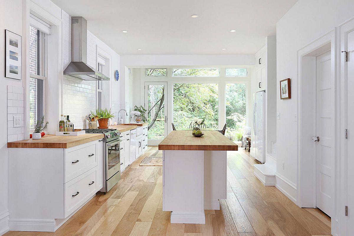 Sàn nhà bếp thịnh hành nhất năm 2020: Sàn gỗ ở khắp mọi nơi! - Ảnh 14.