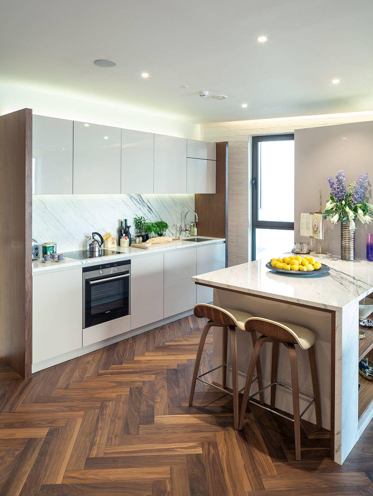 Sàn nhà bếp thịnh hành nhất năm 2020: Sàn gỗ ở khắp mọi nơi! - Ảnh 7.