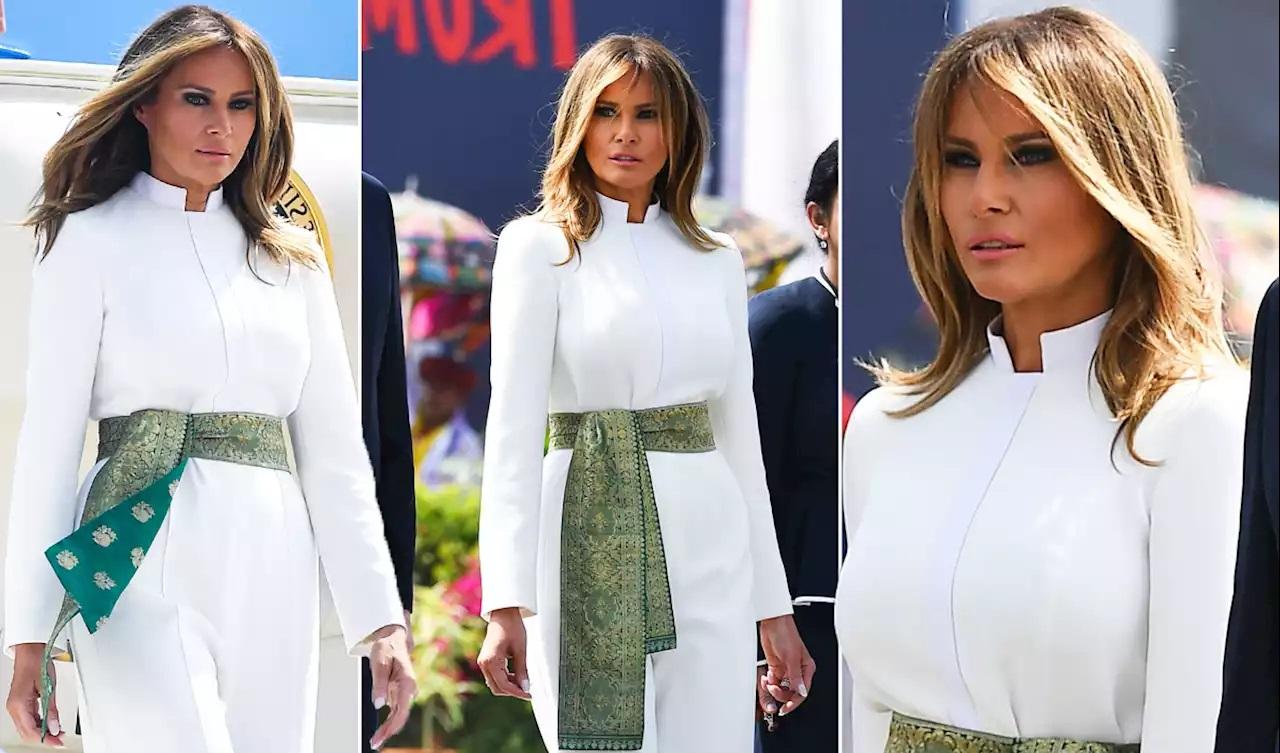 Bà Melania Trump khí chất ngút ngàn khi diện jumpsuit trắng nhưng ý nghĩa thú vị sau đó mới càng khiến dân tình trầm trồ - Ảnh 5.