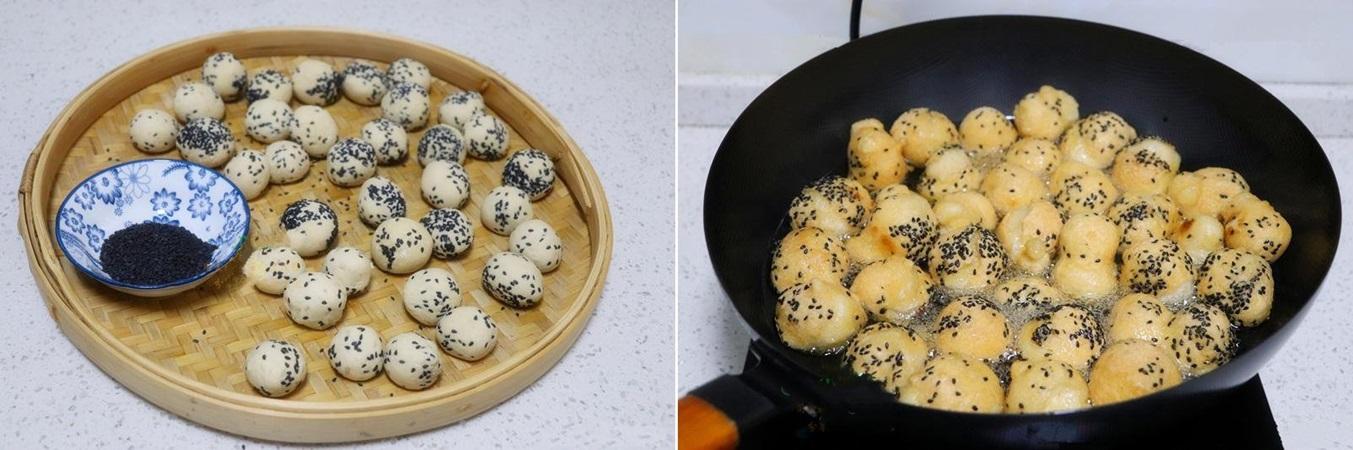 Bánh nếp tẩm vừng chiên nóng hổi ngon mê mẩn - Ảnh 3.