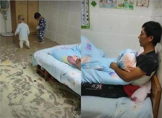 Sau 2 tiếng chồng ở nhà chăm con, vợ suýt ngất khi nhìn thấy bãi chiến trường - Ảnh 2.