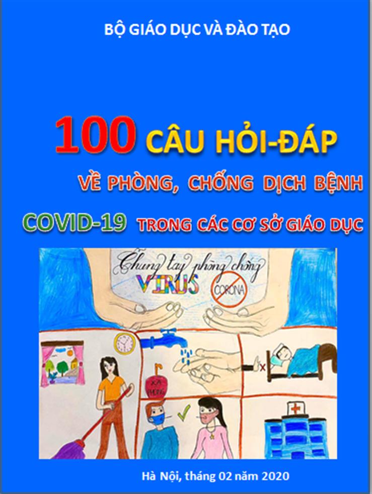 """Bộ GD-ĐT công bố tài liệu """"100 câu hỏi hỏi - đáp về phòng, chống dịch bệnh Covid-19 trong các cơ sở giáo dục"""" - Ảnh 1."""