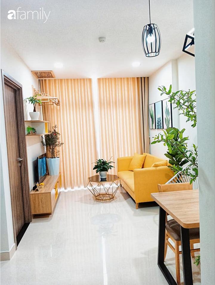 Sở hữu căn hộ 60m2, vợ đảm Đắk Lắk thiết kế theo tông màu vàng đẹp mê ly với chi phí 100 triệu  - Ảnh 2.