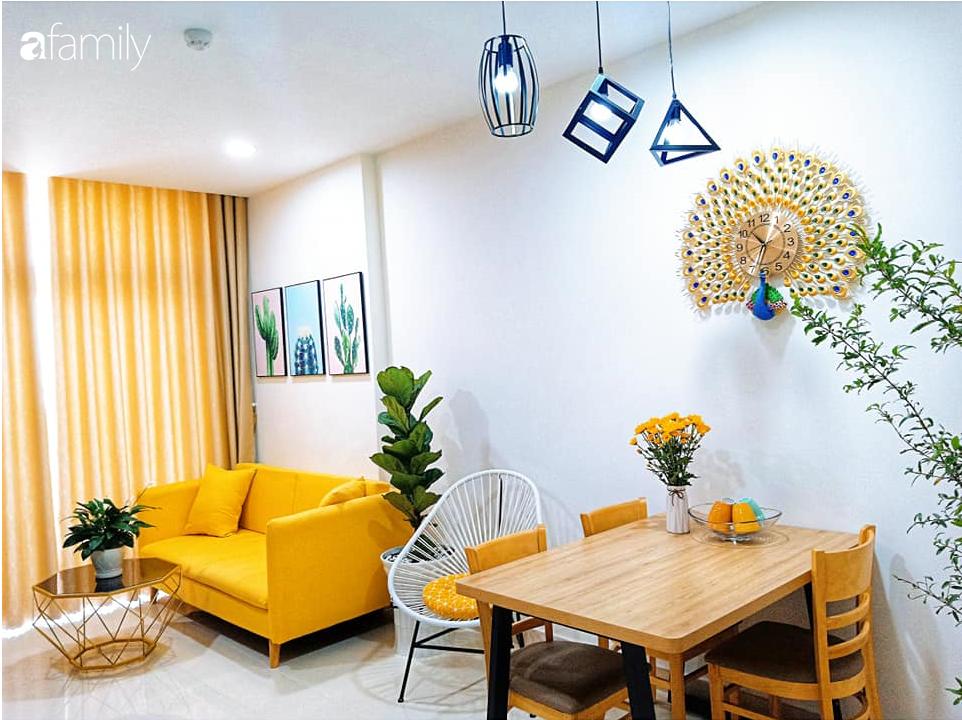 Sở hữu căn hộ 60m2, vợ đảm Đắk Lắk thiết kế theo tông màu vàng đẹp mê ly với chi phí 100 triệu  - Ảnh 7.