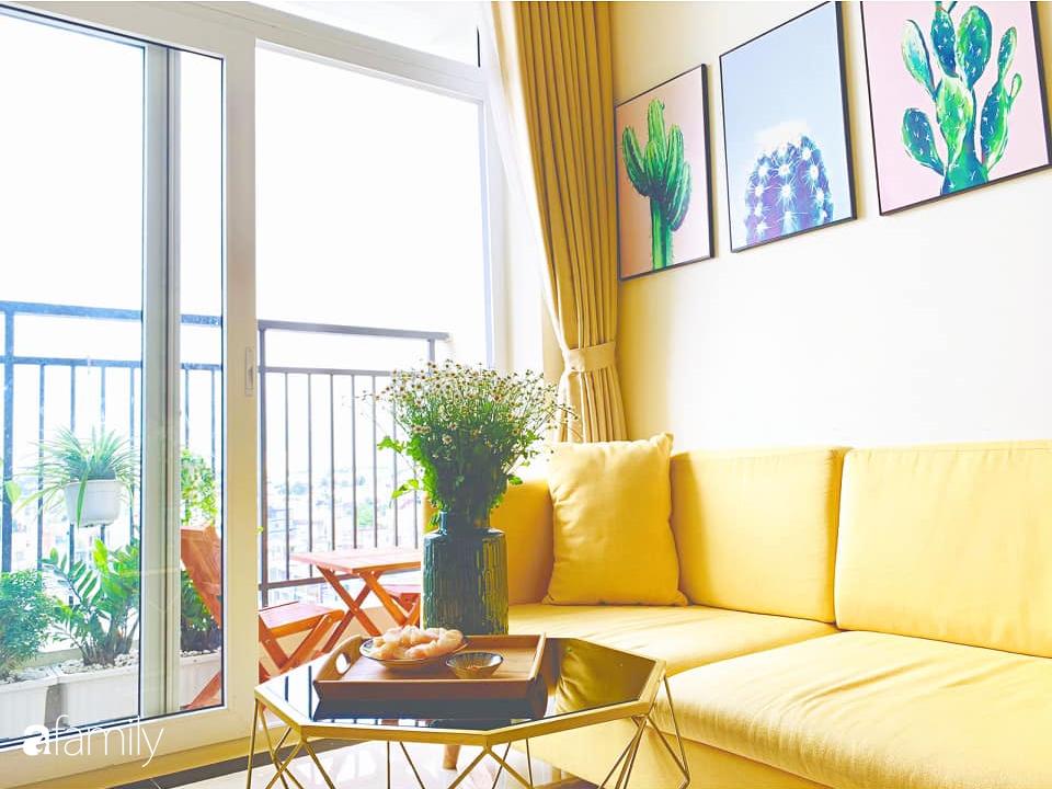 Sở hữu căn hộ 60m2, vợ đảm Đắk Lắk thiết kế theo tông màu vàng đẹp mê ly với chi phí 100 triệu  - Ảnh 5.