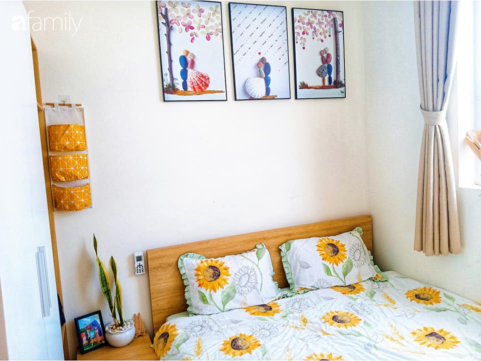Sở hữu căn hộ 60m2, vợ đảm Đắk Lắk thiết kế theo tông màu vàng đẹp mê ly với chi phí 100 triệu  - Ảnh 12.