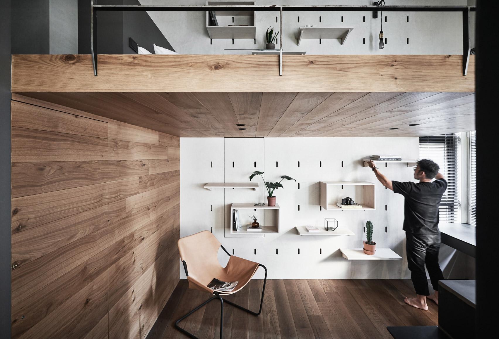 Bổ sung nội thất đa chức năng cho căn hộ xinh xắn tại Đài Bắc (Trung Quốc) - Ảnh 2.