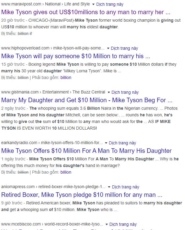 Tin mạng hot nhất hôm nay: Huyền thoại Mike Tyson tuyên bố chàng trai nào lấy con gái ông sẽ được hưởng 230 tỷ? - Ảnh 2.