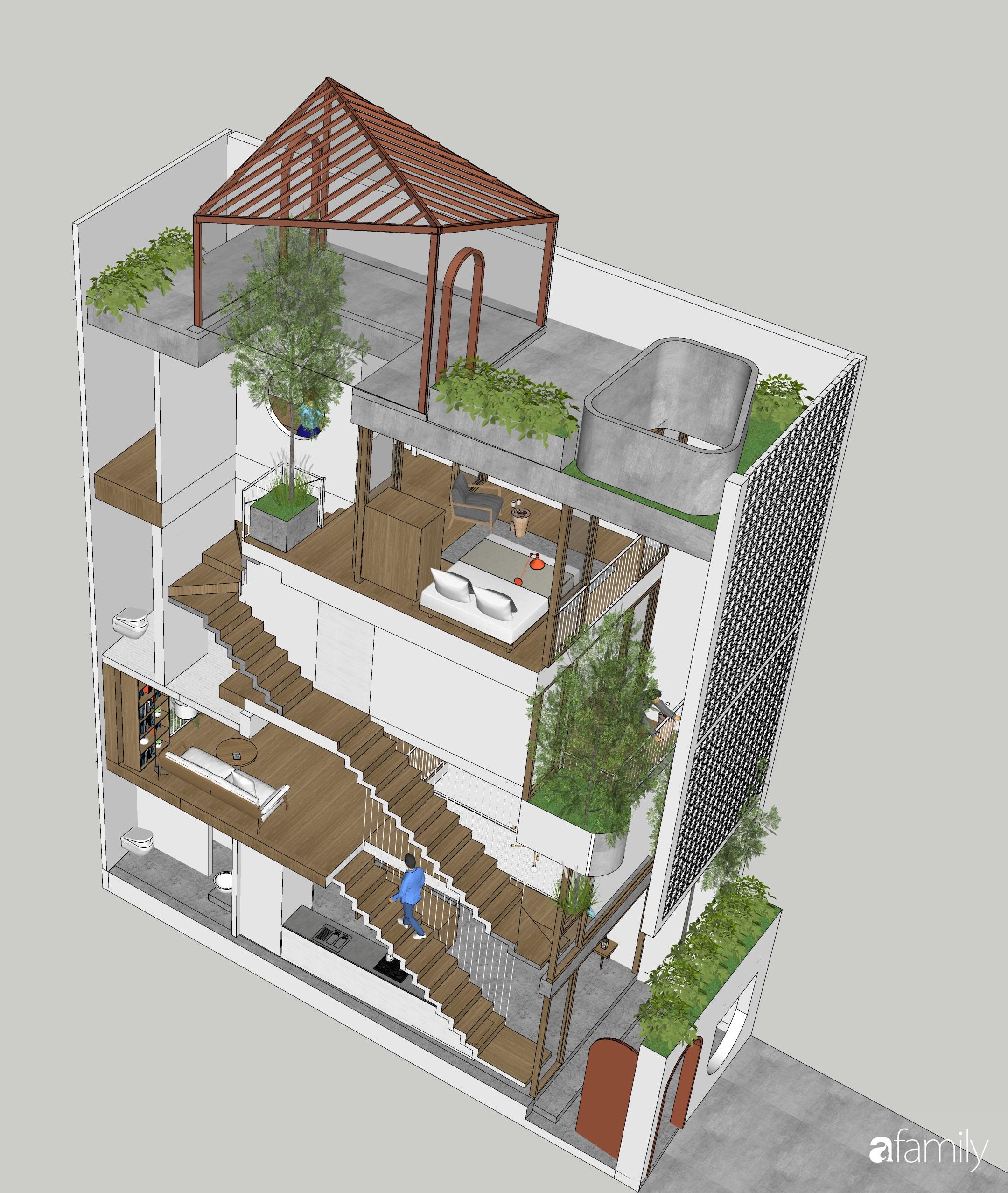 Nhà phố 38m² trong hẻm nhỏ vẫn rộng thoáng và ngập tràn bóng nắng ở Quận Gò Vấp, TP HCM - Ảnh 2.