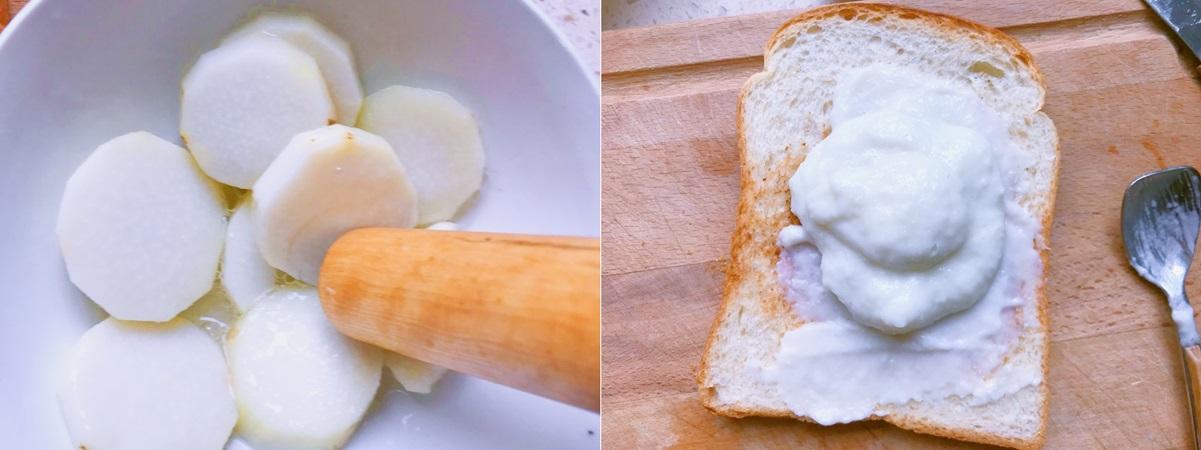 Bữa trưa ngon lành nhẹ bụng cùng bánh mì kẹp táo chuối - Ảnh 3.