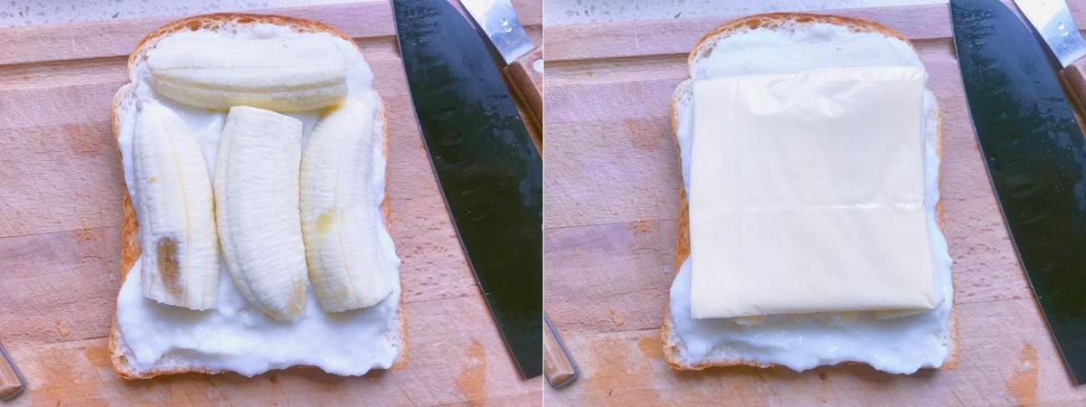 Bữa trưa ngon lành nhẹ bụng cùng bánh mì kẹp táo chuối - Ảnh 4.