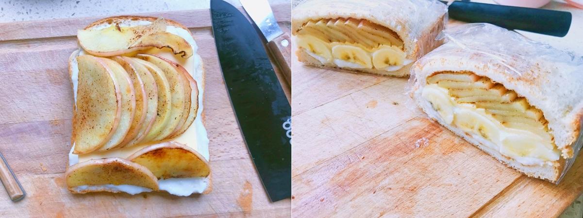 Bữa trưa ngon lành nhẹ bụng cùng bánh mì kẹp táo chuối - Ảnh 5.