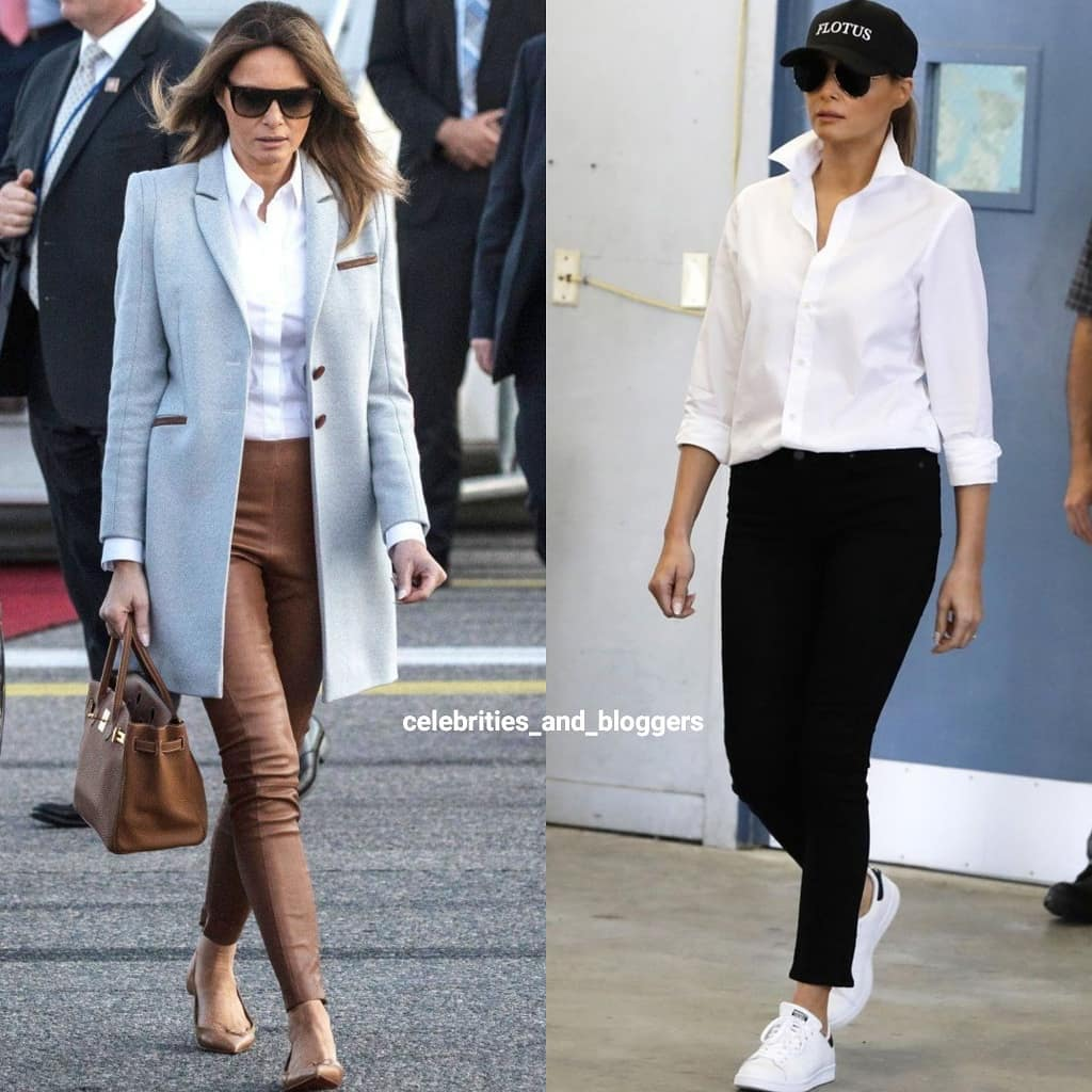 Lên đồ với sơ mi trắng như bà Melania Trump: Vừa đẹp vừa sang còn tôn dáng quá trời - Ảnh 3.