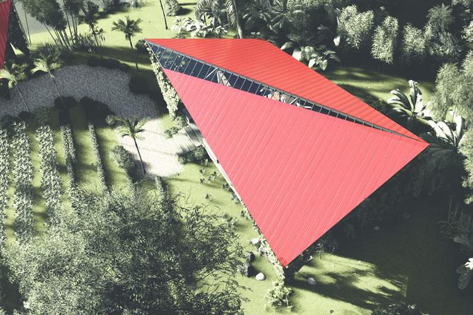 Ngôi nhà có hệ mái lạ mắt với hình cánh diều của con cái chung tay xây tặng bố mẹ ở Đà Nẵng - Ảnh 13.