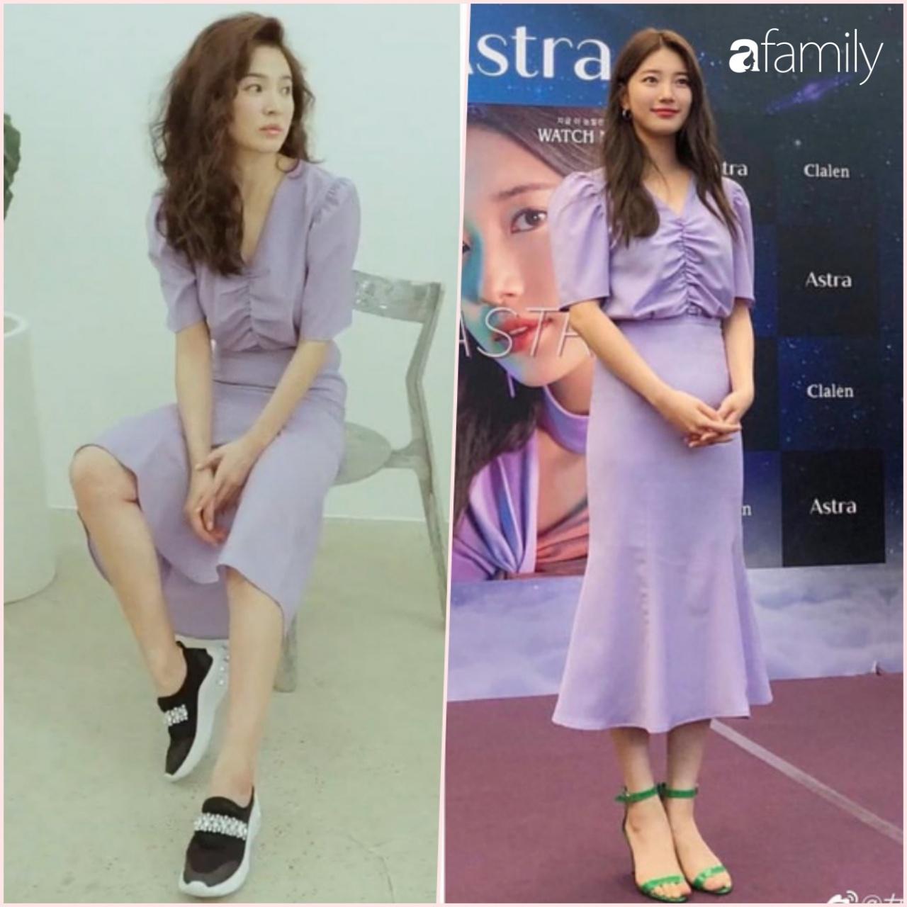 """Ngày càng trẻ sau ly hôn, Song Hye Kye dù diện sau nhưng vẫn lấn ất cả """"tình đầu quốc dân"""" Suzy khi đụng hàng - Ảnh 6."""