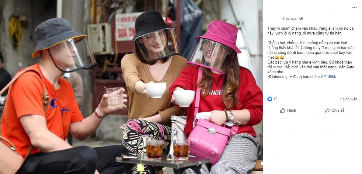 Sản phẩm mũ kèm kính chắn siêu hot dành cho hội chị em, vừa bảo vệ sức khỏe mà ra đường thời trang sáng rực cả phố - Ảnh 5.