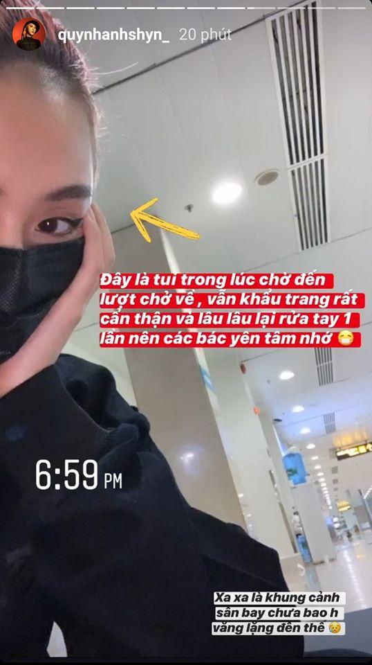 Sau Châu Bùi, Quỳnh Anh Shyn bị cách ly vì bay cùng chuyến với người nghi nhiễm Covid-19 - Ảnh 4.
