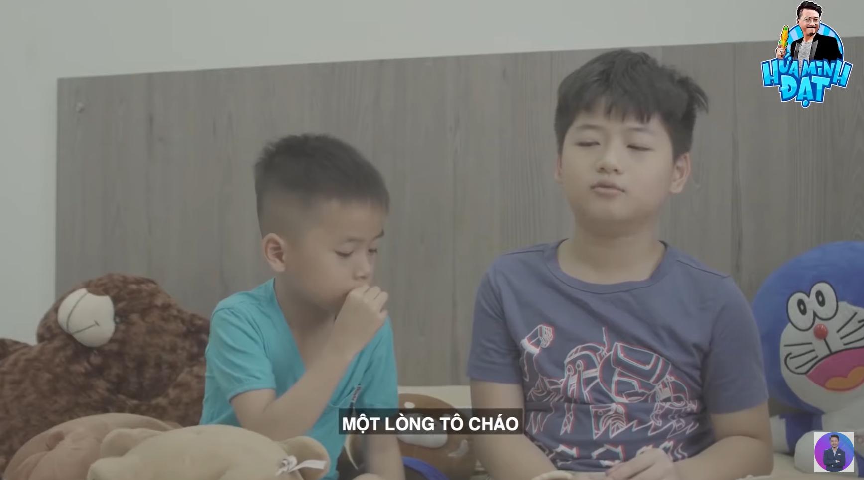 """Hứa Minh Đạt dạy 2 con học thơ, Bánh Mì chỉ nghĩ tới ăn uống, """"tổ lái"""" cực gắt khiến nam diễn viên kêu trời - Ảnh 2."""