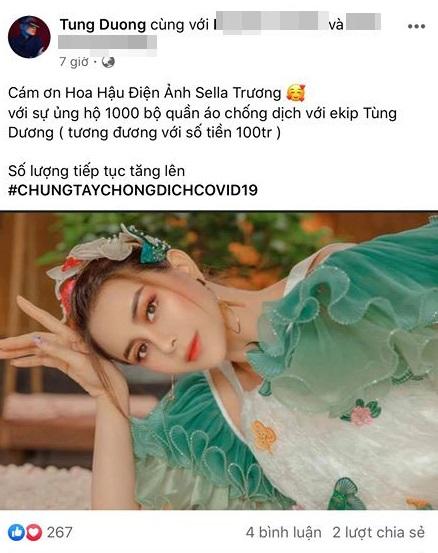 Sau Hà Anh Tuấn và Chi Pu, Sella Trương cùng loạt sao Việt ủng hộ tiền tỷ cho công tác chống lại đại dịch Covid-19 - Ảnh 3.