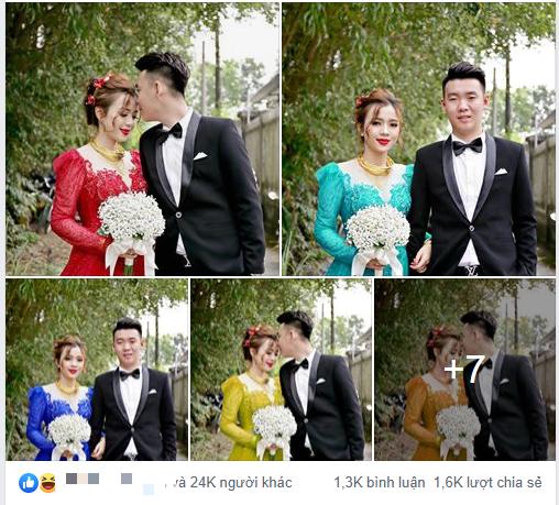 """Khoe ảnh vợ diện váy cưới xanh nõn chuối trong ngày cưới, chú rể tiết lộ sự thật bất ngờ đằng sau màn thay váy """"nhanh như chớp"""" - Ảnh 2."""