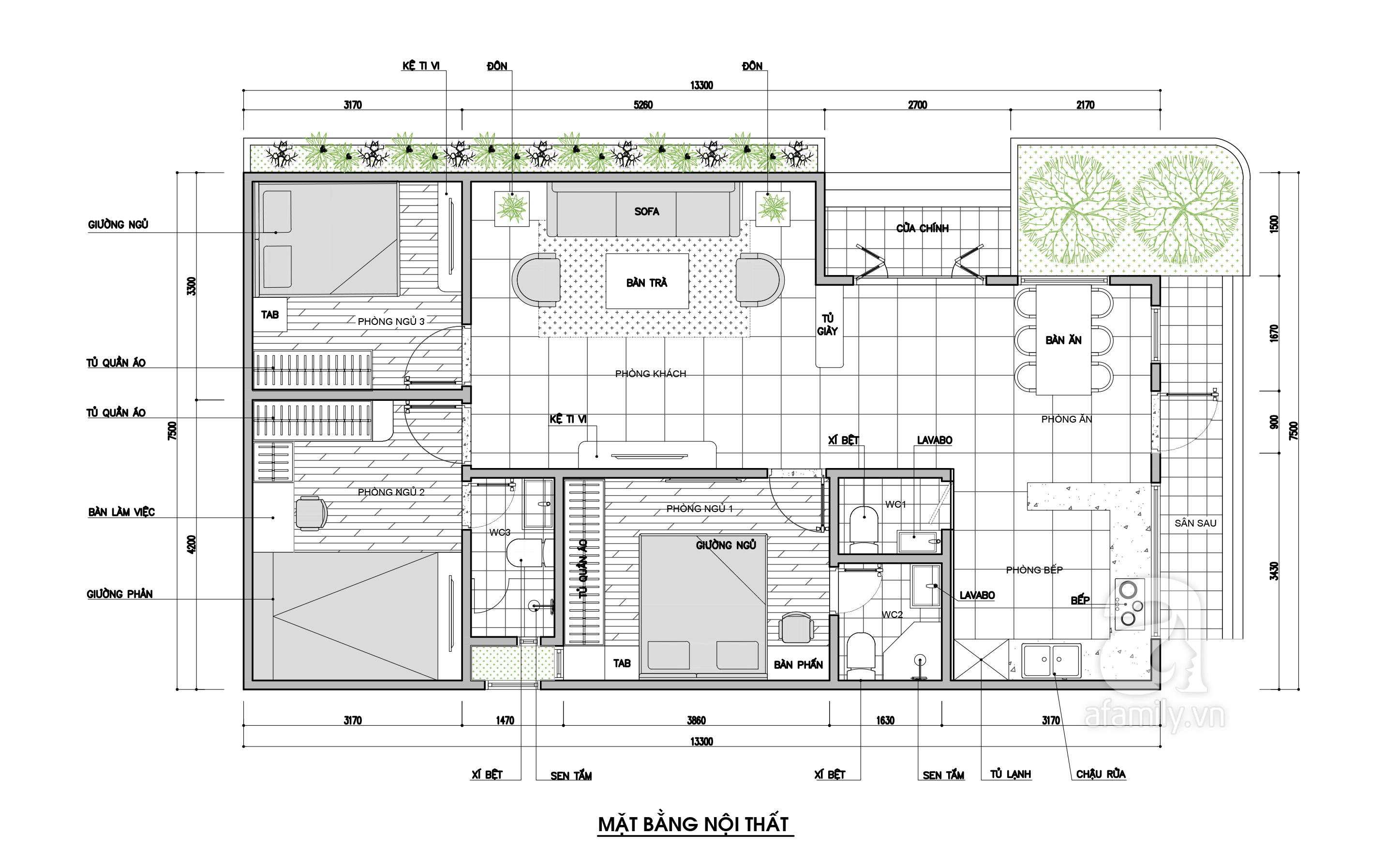 Nhà vườn rộng thoáng với diện tích 100m² được kiến trúc sư tư vấn thiết kế với chi phí 117 triệu - Ảnh 2.