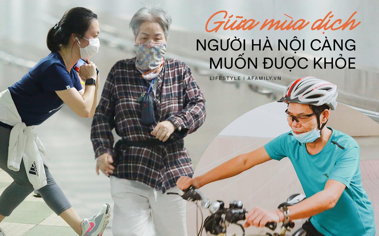 Kỳ lạ giữa Hà Nội mùa dịch: Trên đường vắng tanh, già trẻ, lớn bé rủ nhau xuống hầm tập thể thao nâng cao sức khỏe - Ảnh 1.