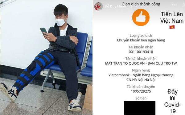 Dàn cầu thủ hot boy Duy Mạnh, Đức Huy... rủ nhau quyên góp ủng hộ chống dịch corona, dân tình xúc động hưởng ứng