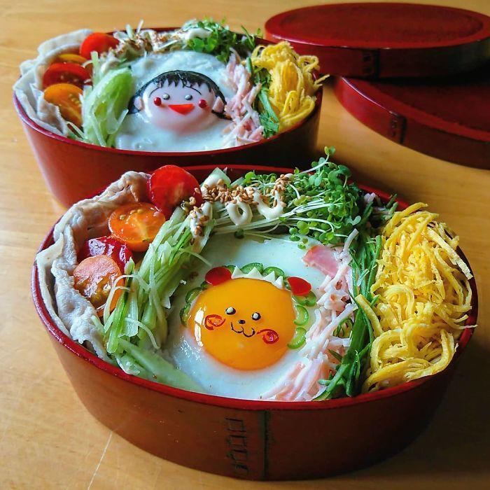 Hot mom 3 con Nhật Bản được các bà mẹ khắp thế giới ngưỡng mộ vì tài biến hóa đồ ăn từ trứng, làm bento hấp dẫn đến mức lên cả trang bìa Vogue - Ảnh 8.