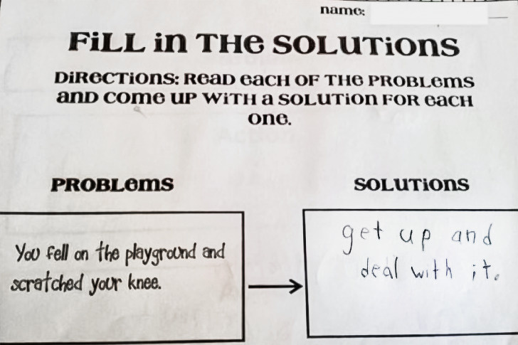 Cười bò với loạt câu trả lời khó đỡ trong bài kiểm tra của học sinh, có câu vô lý đến mức giáo viên đành ôm đầu bất lực - Ảnh 7.